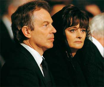 Tony Blair y su Esposa