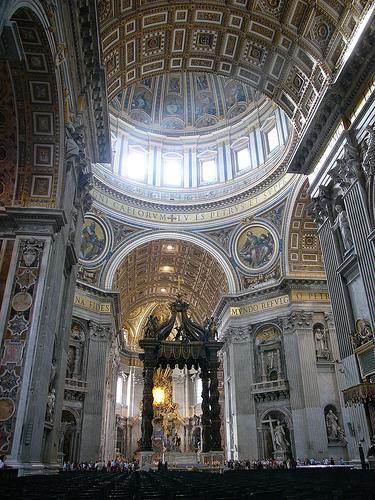 arquitectura interior vaticano detalles y decoración