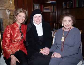 Con Patricia Neal, a su izquierda, construyó el The Gary-The Olivia Teather