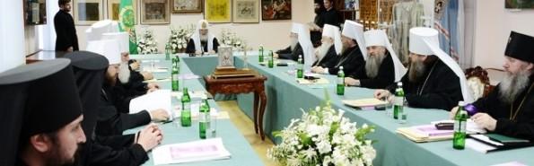 La foto corresponde al Sínodo Ortodoxo Ruso del 27 de julio, cuando se aprobó la fiesta de esta imagen