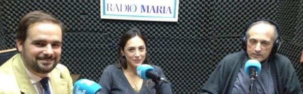 Tamara Falcó en Radio María entrevistada por Álex Navajas y el P. Luis Fernando de Prada