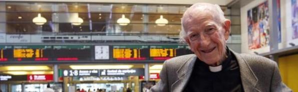 El padre Loring en junio de 2012... viajero infatigable, ha emprendido su último periplo