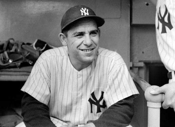 Yogi Berra at Yankee Stadium in 1956. Credit Sam Falk/The New York Times