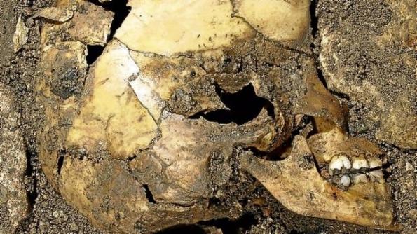 Niño calcolítico de hace 4.900 años del yacimiento de El Portalón, del que se ha analizado el ADN