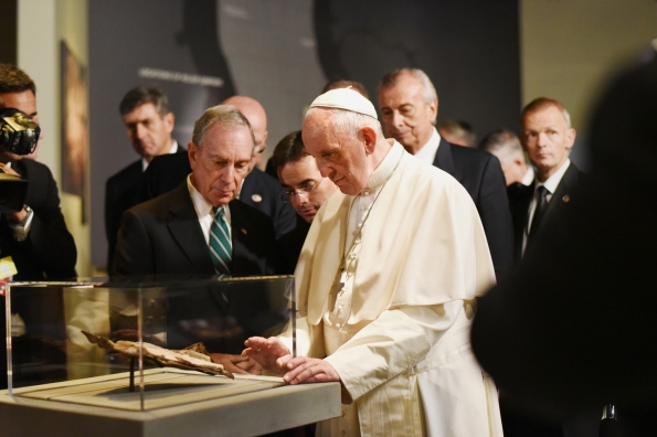Pope Francis Visits 9/11 Memorial And Museum In Lower Manhattan